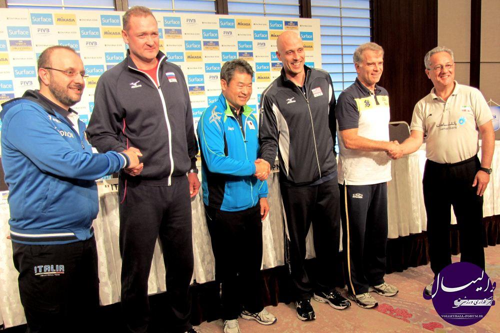 کنفرانس خبری سرمربیان تیم حاضر در جام قهرمان قاره ها !