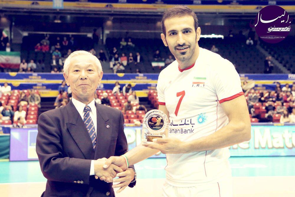 حمزه زرینی بهترین بازیکن دیدار والیبال ایران و آمریکا !