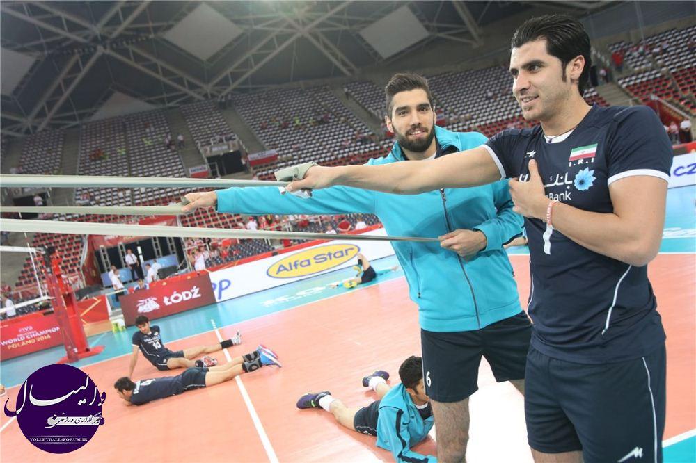 گزارش تصویری دیدار تیم ملی والیبال ایران و صربستان /قسمت اول !