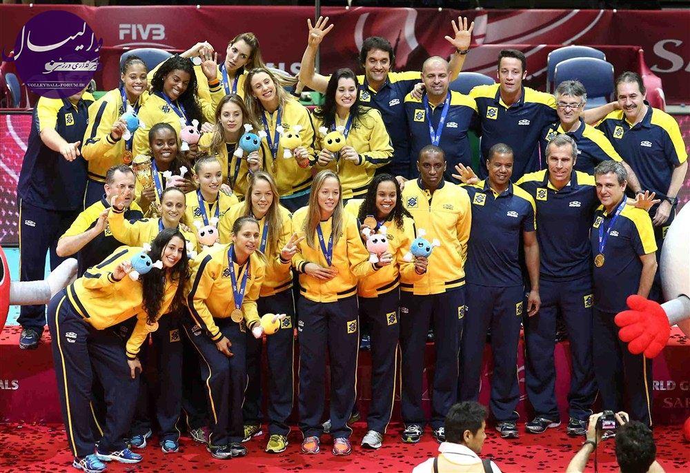 برزیل در صدر رده بندی والیبال زنان جهان !