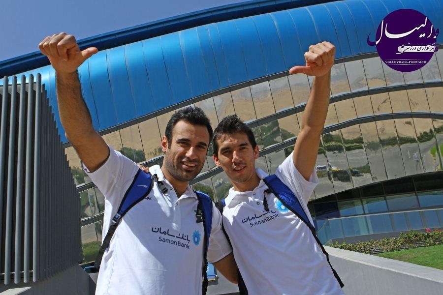 گزارش تصویری از اولین تمرین تیم ملی والیبال در دبی (شماره دو)