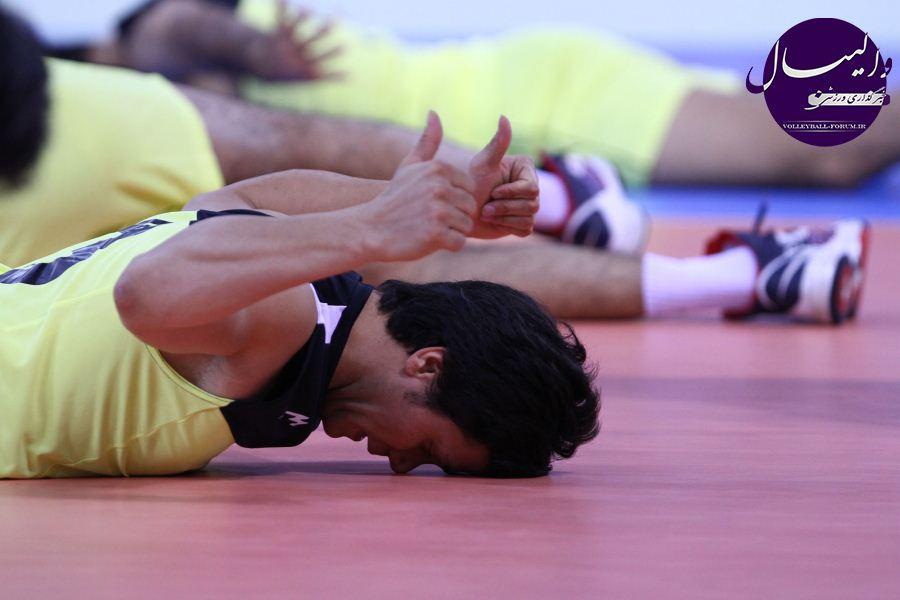 گزارش تصویری از اولین تمرین تیم ملی والیبال در دبی (شماره یک)