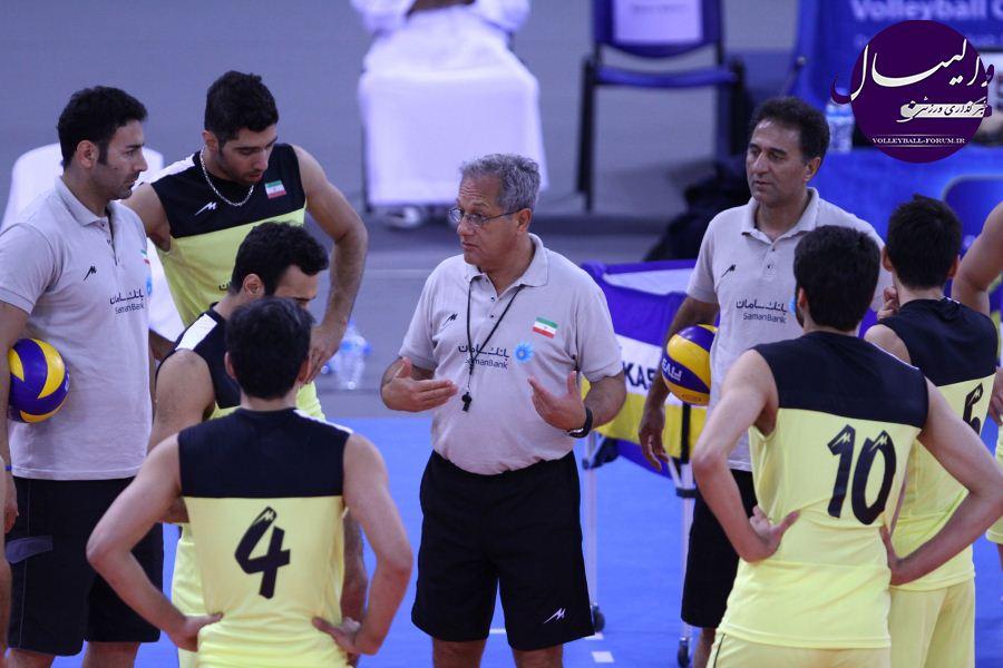 آخرین تمرین ملی پوشان والیبال پیش از آغاز مسابقات !