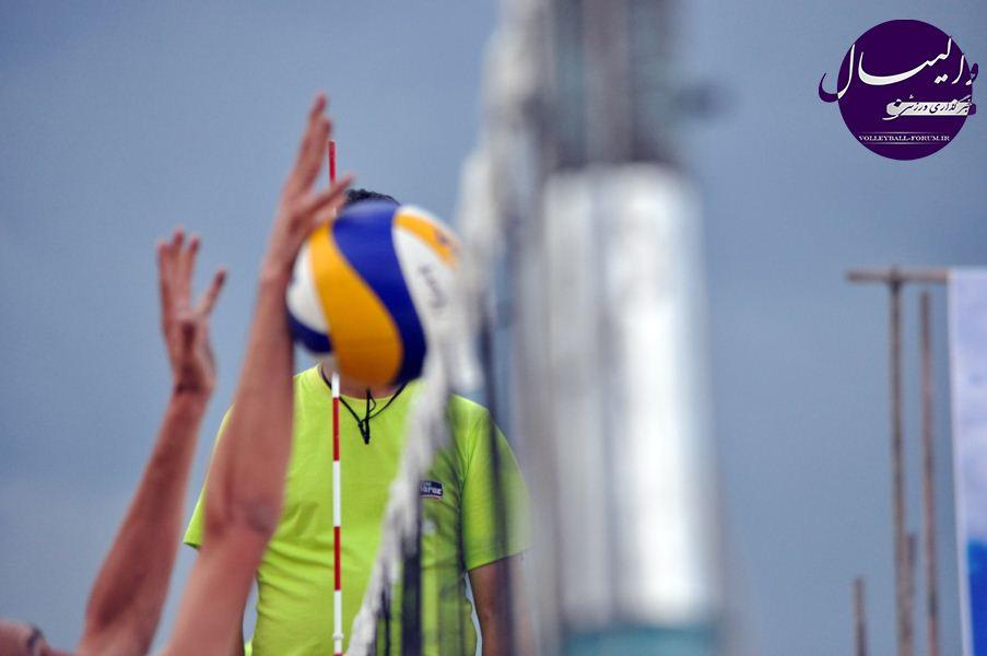 عکس های زیبا از والیبال ساحلی قهرمانی کشور در شهر نور !