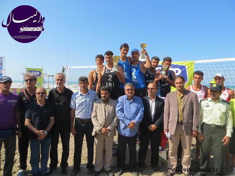 ترکمنها روی سکوی اول تا سوم تور والیبال ساحلی خزر رفتند !
