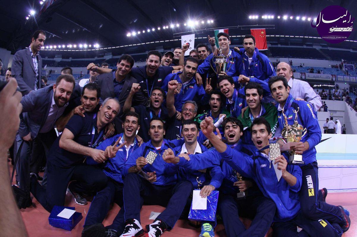 گزارش تصویری از فینال رقابت های والیبال مردان 2013 آسیا+مراسم اهدای جوایز (شماره 2)