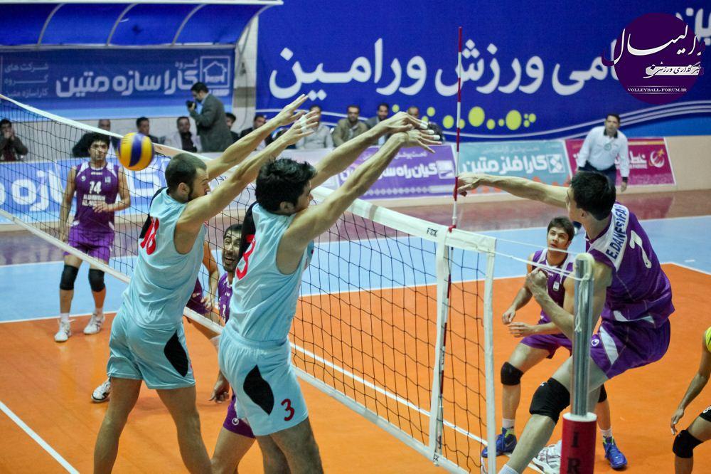 مسابقات والیبال جام ورزش/شکست ملی پوشان متین ورامین مقابل والیبالیست های بندر عباس!