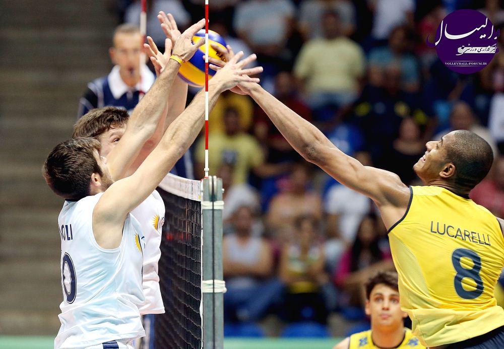مسابقات والیبال زیر 23 سال جهان/جدال هم قاره ای ها؛ برزیل از آرژانتین برد !