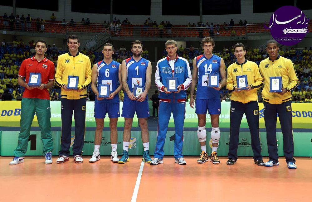 رقابت های والیبال زیر 23 سال مردان جهان/عناوین برتر نصیب برزیلی ها و صرب ها شد !