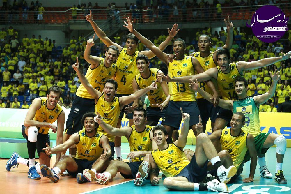 برزیلی ها قهرمان نخستین دوره رقابت های والیبال زیر 23 سال جهان !