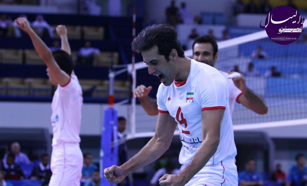 قهرمانی مقتدرانه والیبال ایران در آسیا/جشن قهرمانی در کنار خلیج فارس !!